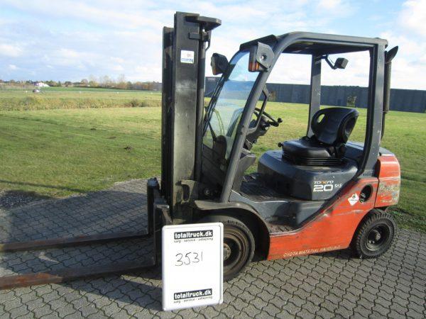 Toyota – 8FDF20 – Dieseltruck – 2000 kg / 500 mm lastcenter