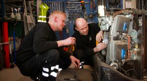 Kasper og Thomas på Værkstedet
